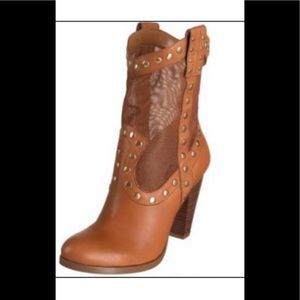 BCBGeneration Brown Leather Boots US 9.5.